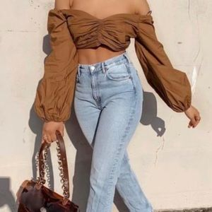 Zara draped crop top